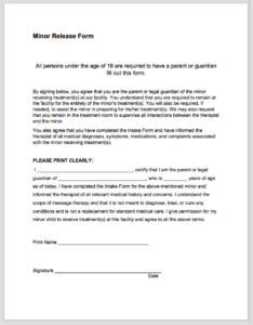 Free forms my massage world this form allows a parent or legal guardian to give permission to perform massage on a minor client its important to have this type of document signed pronofoot35fo Image collections